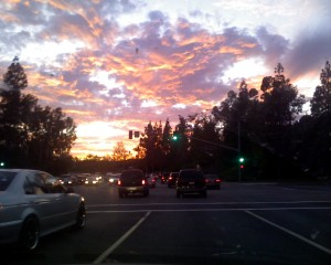 View from the Road: A California Sunset